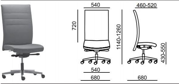 Rim Futura 150 FU 3121 Z1 ohne Armlehne